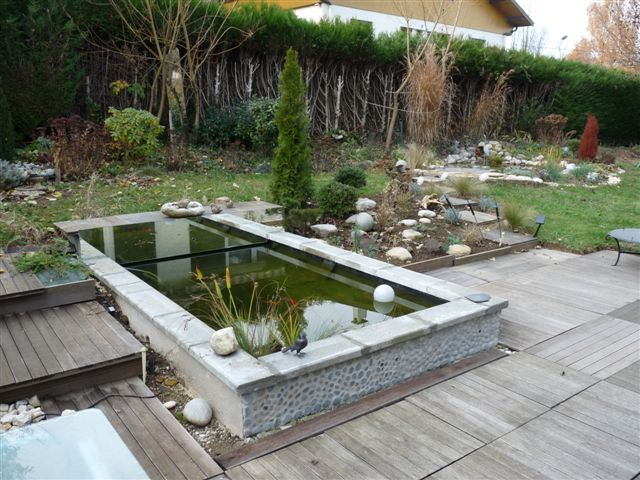 design bassin koi contemporain avignon 3228 avignon. Black Bedroom Furniture Sets. Home Design Ideas