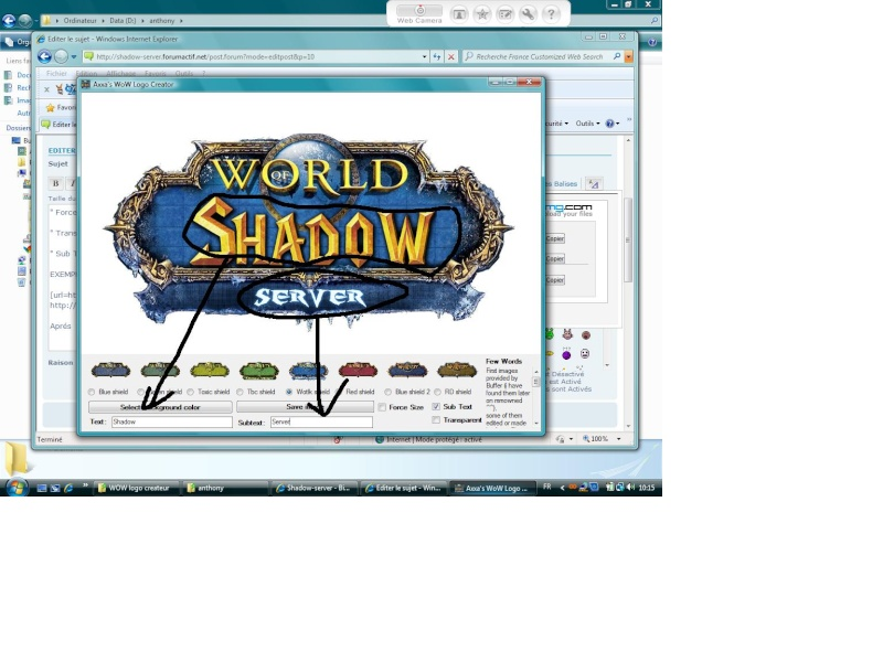 creer un logo world of warcraft
