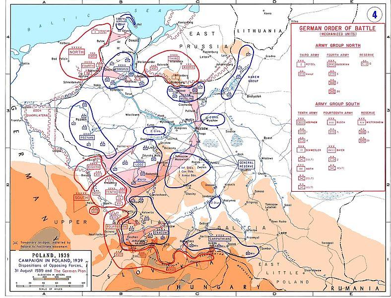 Ordre de bataille lors de la campagne de Pologne (1939) carte_13
