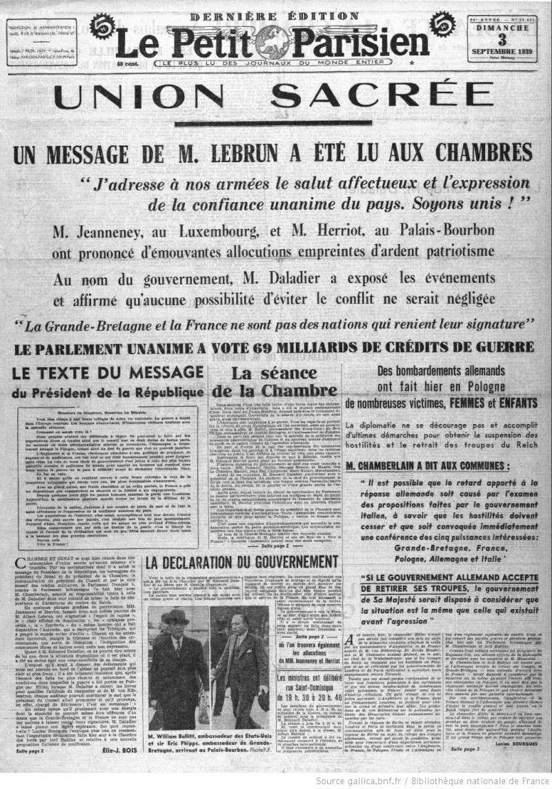 Le Petit Parisien annonce la Guerre ! le_pet14