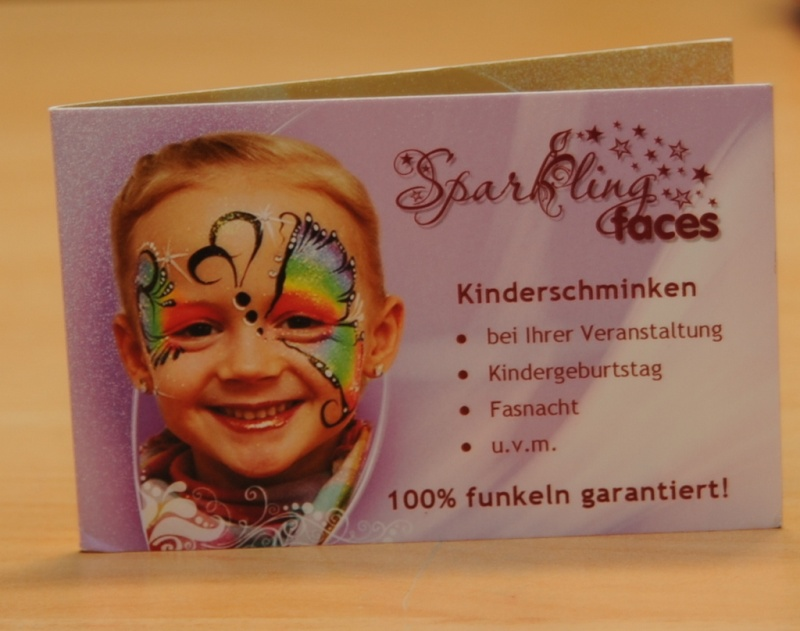Face painting business cards gallery business card template for Face painting business